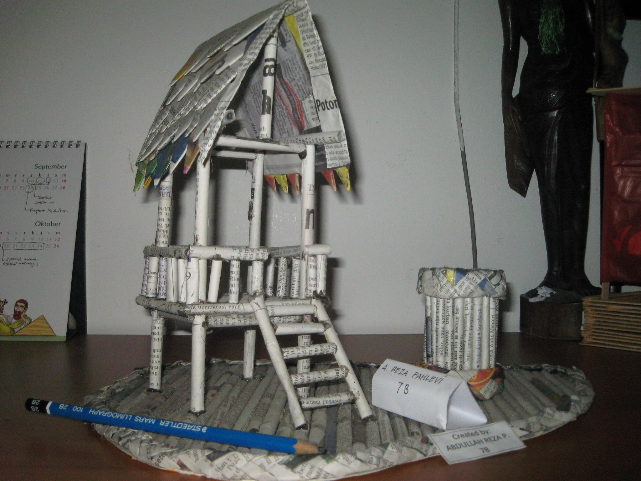 Miniatur Benda dari Kertas Koran Bekas  Jay's Weblog